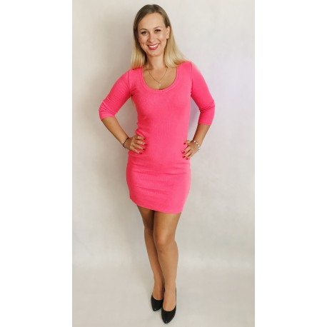Sukienka Ibi neonowa